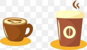 Vector Coffee Cup - Coffee Cup Espresso Drink Mug PNG