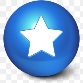 Blue Star Ball Favorites Icon - Apple Icon Image Format Skin PNG