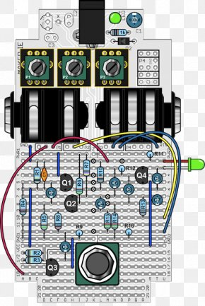 Di Circuit Board - Effects Processors & Pedals Wiring Diagram Guitar Microcontroller PNG