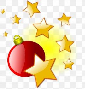 Xmas Art - Christmas Ornament Star Of Bethlehem Clip Art PNG