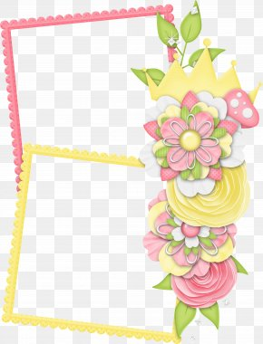 Flower Frame Pattern - Picture Frame Flower Pattern PNG