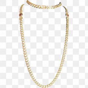 Chain - Earring Necklace Chain Jewellery Gold PNG
