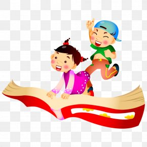Child Sitting On The Books - Summer Vacation Child Happiness PNG