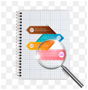 Notebook Design - Paper Magnifying Glass PNG