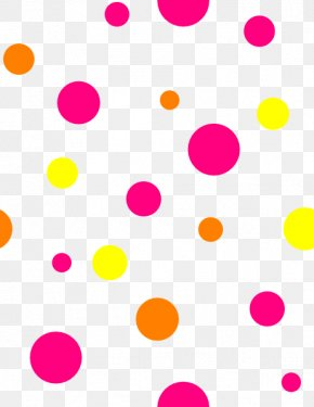 Neon Dot Cliparts - Polka Dot Circle Area Petal Font PNG