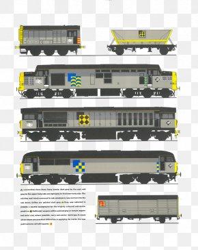 Cartoon Train Track - Train Rail Transport Passenger Car Working With British Rail Railroad Car PNG