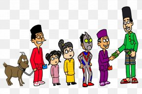 Raya - Cartoon Eid Al-Fitr Holiday Joke Clip Art PNG
