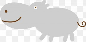 Vector Cute Hippo - Domestic Pig Dog Horse Cattle Canidae PNG