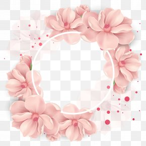 Vector Cherry Decoration - Flower Wedding Wreath Clip Art PNG