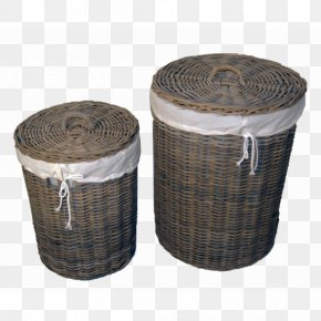 Tree Rattan - Basket Rattan Wicker Lid White PNG