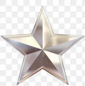 Star - Metal Silver Gold Clip Art PNG