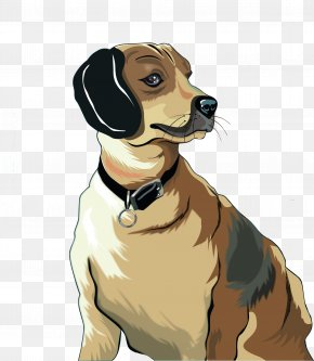 Cool Cartoon Dog - Border Collie Photography Download PNG