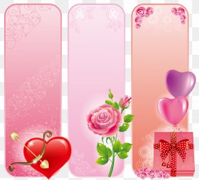 Free Valentine's Day Card To Pull The Material - Love Illustration PNG