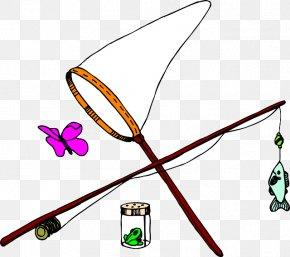 Fishing Pole - Butterfly Net Clip Art PNG