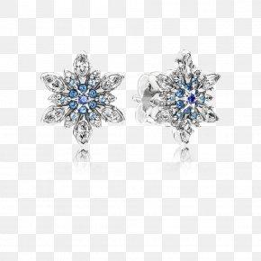 Gold Snowflake Ball - Earring Pandora Cubic Zirconia Charm Bracelet Jewellery PNG