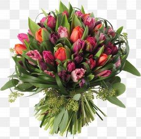 Transparent Tulips Bouquet Clipart Picture - Flower Bouquet Tulip Clip Art PNG