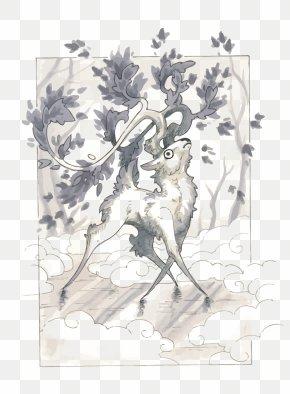 Vector Watercolor Deer - Deer Watercolor Painting Drawing Sketch PNG