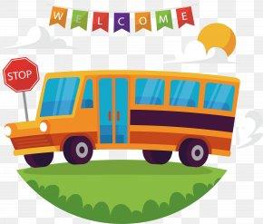 Welcome To School Bus - School Bus School Bus PNG