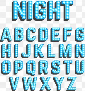 Luminous Blue Neon WordArt - Neon Lighting Blue PNG