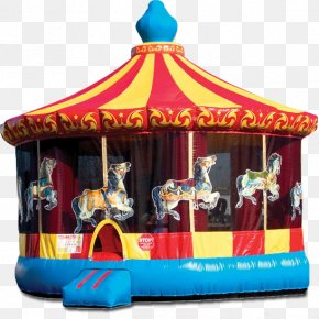 House - Carousel Mike's Moonwalk Rentals & Backyard BBQ Renting Inflatable Bouncers House PNG