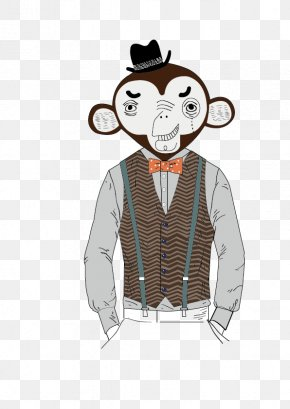 Illustration Monkey - Homo Sapiens Illustration PNG