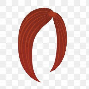 Brown Red Salad Woman Wig - Wig Woman PNG