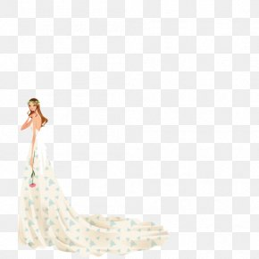 Vector Elements Wedding Model - Model Gown Contemporary Western Wedding Dress PNG