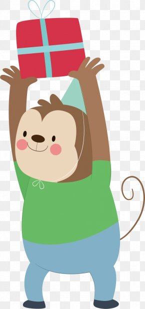 Cartoon Monkey Vector - Monkey Cartoon Clip Art PNG