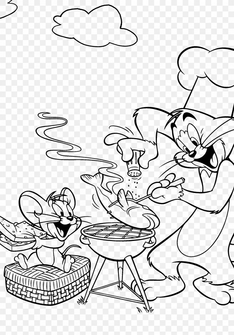 - Tom Cat Jerry Mouse Tom And Jerry Coloring Book Cooking, PNG