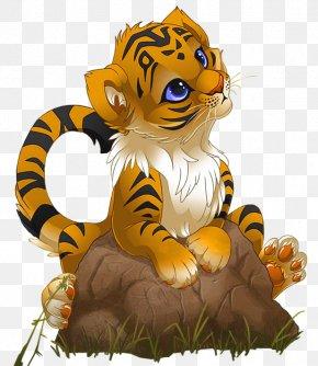 Cute Little Tiger Cartoon - Tiger Cartoon Clip Art PNG