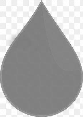 Single Raindrop Cliparts - Circle Angle Grey PNG