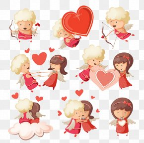 Cupid Bow And Arrow - Cupid Royalty-free Heart Clip Art PNG