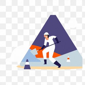 Construction Workers Are Shoveling Soil - Architectural Engineering Illustration PNG