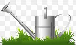 Spring Grass And Water Can Clipart - Flower Garden Clip Art PNG
