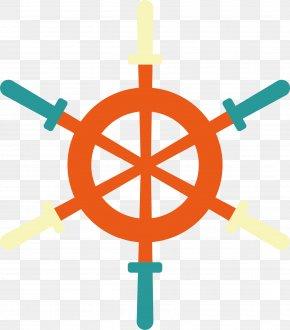 Vector Creative Orange Paddle - Maritime Transport Ships Wheel Sailing Party PNG