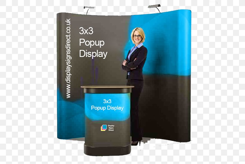 Ad Web Banner Exhibition Display Stand