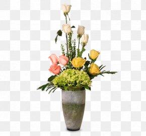 Arreglo Floral - Rose Flower Bouquet Cut Flowers Floral Design Vase PNG