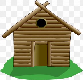 Wooden House Clipart - House The Three Little Pigs Clip Art PNG