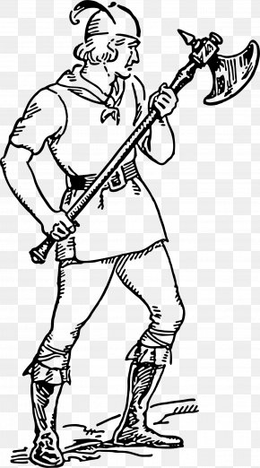 Warrior - Middle Ages Battle Axe Clip Art PNG