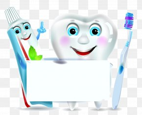 Cartoon Tooth Image Toothbrush - Toothpaste Toothbrush Clip Art PNG