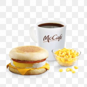 Breakfast - McGriddles English Muffin McDonald's Sausage McMuffin Breakfast Sandwich PNG