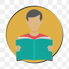 Cartoon Yellow - Reading Icon Student Icon Education Icon PNG