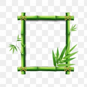 Bamboo,natural - Bamboo Picture Frame Clip Art PNG