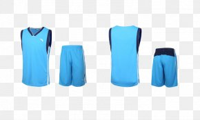 Blue Sportswear - Jersey Basketball Uniform Icon PNG