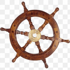 Wooden Boat - Ship's Wheel Boat Maritime Transport PNG