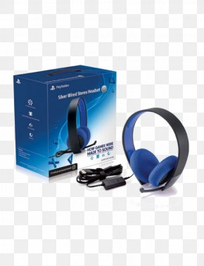 Playstation - Sony PlayStation Silver Wired Stereo Headset PlayStation 4 PlayStation 3 PlayStation Vita PNG