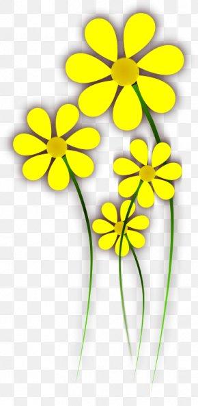 Daisy Yellow - Flower Yellow Clip Art PNG