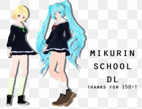 Hatsune Miku - Hatsune Miku: Project DIVA Arcade Future Tone MikuMikuDance School Kagamine Rin/Len PNG