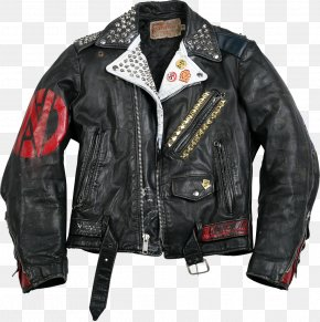 Jacket - Leather Jacket Punk Fashion Punk Rock PNG