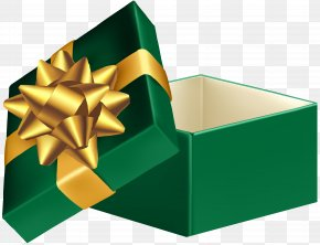 Green Open Gift Box Clip Art Image - Gift Box Clip Art PNG